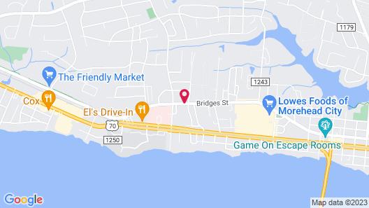 Econo Lodge Crystal Coast Map