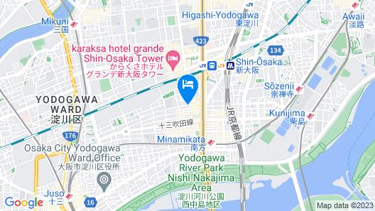Y's HOTEL Shin-Osaka Map