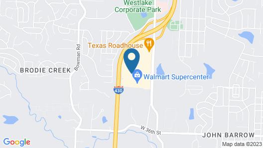 TownePlace Suites Little Rock West Map