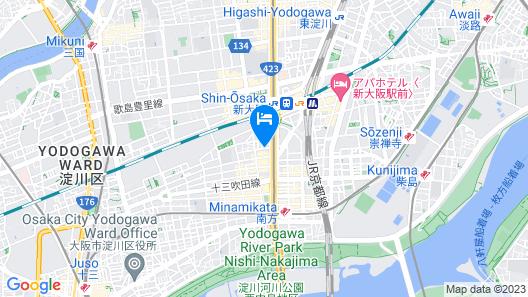 Hotel WBF Shin-Osaka Sky Tower Map