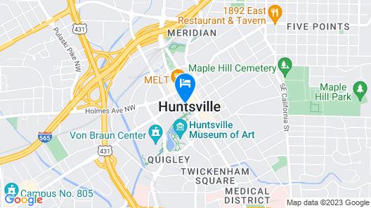 106 Jefferson Huntsville Curio Collection by Hilton Map