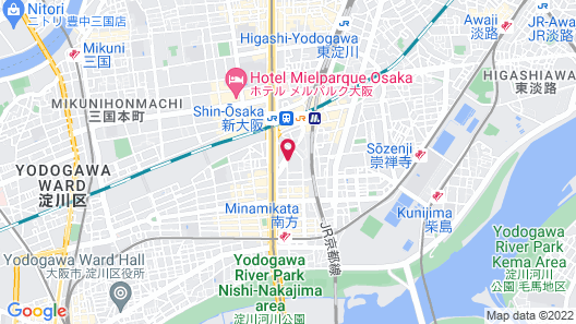 Shin Osaka Washington Hotel Plaza Map