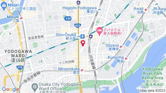 New Osaka Hotel Map