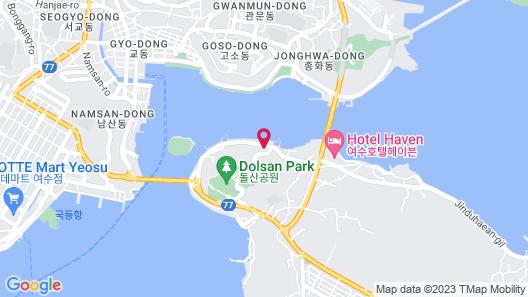 Yeosu Lium Spa Hostel Map