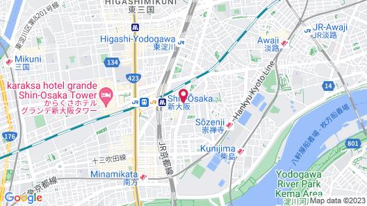 Residential Hotel Hare Shin-Osaka Map