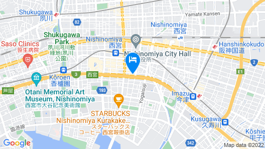 Hotel Live Max Nishinomiya Map