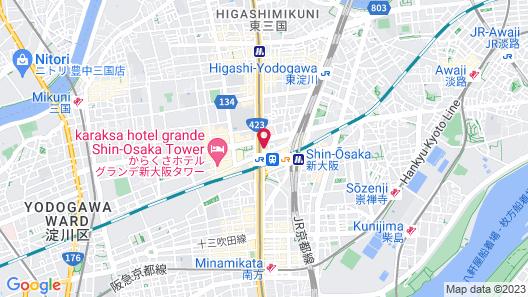 Courtyard by Marriott Shin-Osaka Station Map