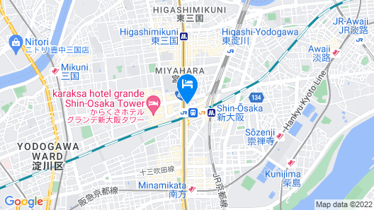 Courtyard by Marriott Shin-Osaka Station Map