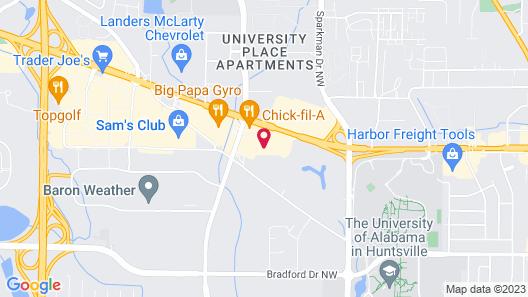 Comfort Inn Huntsville near University Map
