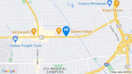 Suburban Extended Stay Hotel Huntsville University Area Map