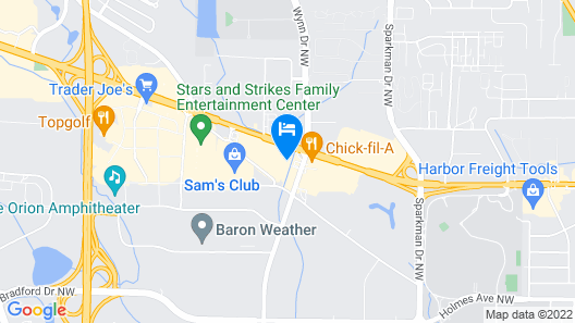 Clarion Pointe Huntsville Research Park Map