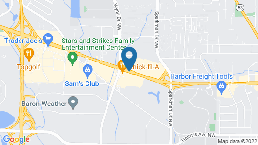 Sleep Inn & Suites Huntsville near U.S. Space & Rocket Center Map