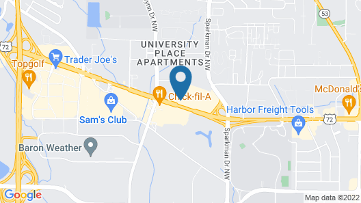 Courtyard by Marriott Huntsville University Drive Map