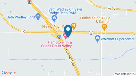 Hampton Inn & Suites Pauls Valley, OK Map