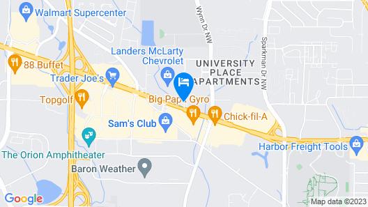 Best Western Huntsville Map