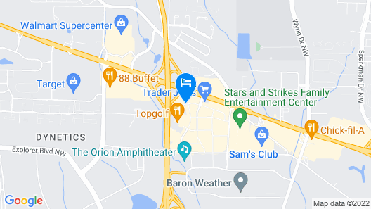 Holiday Inn Research Park Map