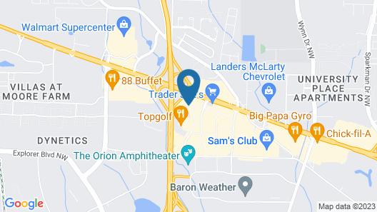 Holiday Inn Research Park, an IHG Hotel Map