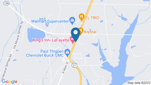 Key West Inn - Lafayette Map