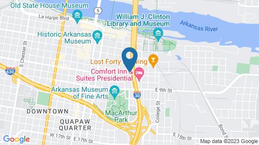 Holiday Inn Presidential Little Rock Downtown, an IHG Hotel Map