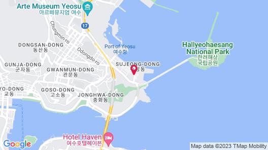Sono Calm Yeosu (formerly The MVL Hotel Yeosu) Map