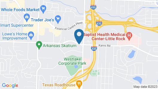 Hilton Garden Inn West Little Rock Map