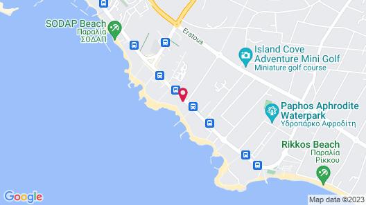 Constantinou Bros Athena Beach Hotel Map
