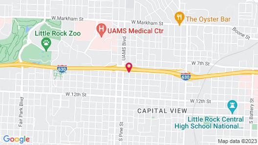 Garden Inn and Suites Little Rock Map