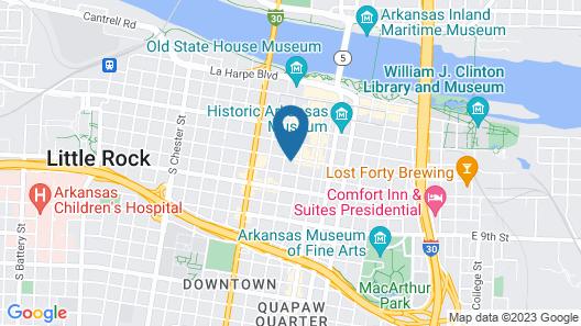AC Hotel by Marriott Little Rock Downtown Map