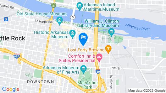 Homewood Suites by Hilton Little Rock Downtown Map