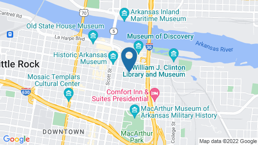 Hampton Inn & Suites Little Rock-Downtown Map