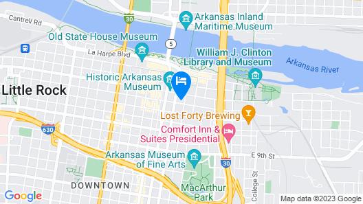 Hilton Garden Inn Little Rock Downtown, AR Map