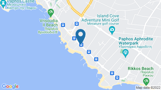 Constantinou Bros Athena Royal Beach Hotel Map