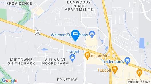 Comfort Suites Huntsville Research Park Area Map