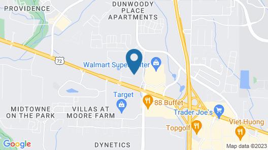 Quality Inn & Suites Huntsville Research Park Area Map