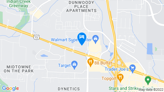 Quality Inn & Suites Huntsville Research Park Area Map