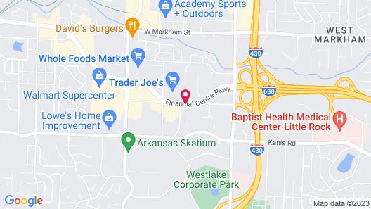 Embassy Suites Little Rock Map