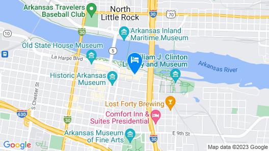 Courtyard by Marriott Little Rock Downtown Map