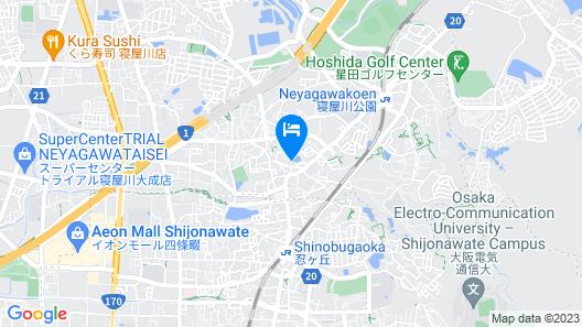 HG Cozy Hotel No.5 Neyagawa Map