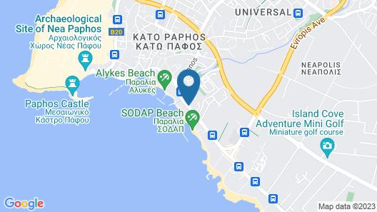 Alexander The Great Beach Hotel Map