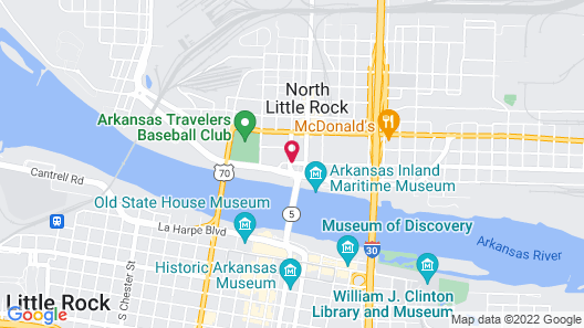 Wyndham Riverfront Little Rock Map