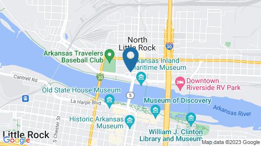 Wyndham Riverfront Little Rock Map