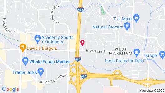 Motel 6 Little Rock, AR - West Map