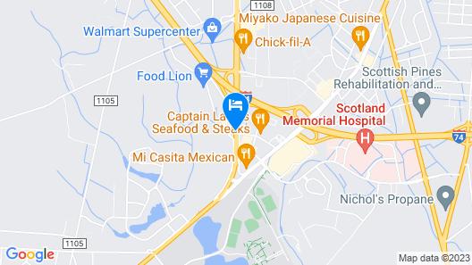 Comfort Inn Laurinburg Map