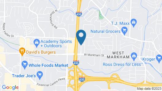 Springhill Suites Marriott Little Rock West Map