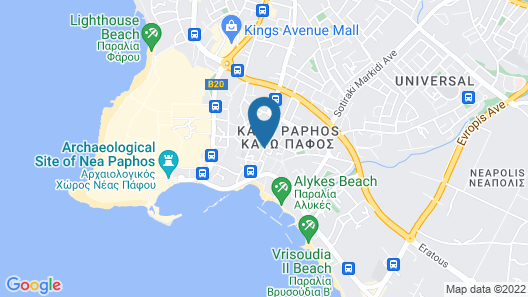 Alecos Hotel Apartments Map