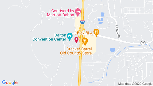 Comfort Inn & Suites Dalton Map