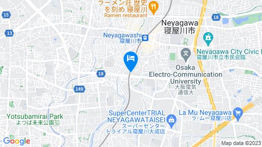 New Commander Hotel Osaka Neyagawa Map
