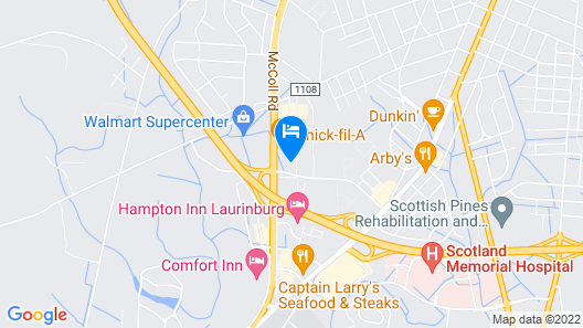 Holiday Inn Express Hotel & Suites Laurinburg, an IHG Hotel Map