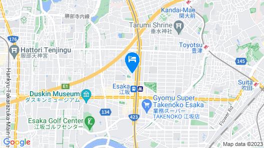 Hotel Claiton Esaka Map
