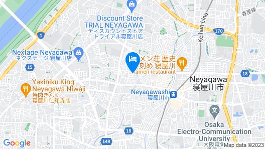 HG Cozy Hotel No.1 Neyagawa Map